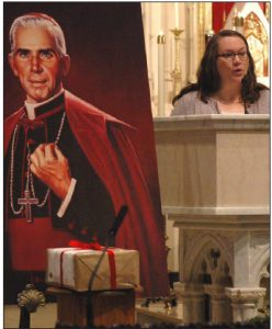 Archbishop Fulton Sheen and Bonnie Engstrom