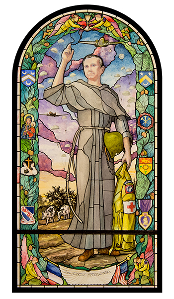 Fr. Ignatius Maternowski stained glass
