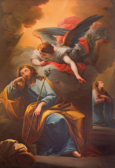 The angel Gabriel appears to St. Joseph
