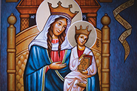 OUR LADY OF WALSINGHAM PAINTING